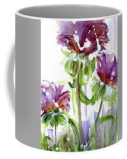 Coffee Mug featuring the painting Purple Wildflowers by Dawn Derman