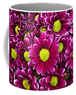 Purple Yellow Flowers Coffee Mug