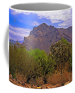 Coffee Mug featuring the photograph Pusch Ridge Morning H10 by Mark Myhaver