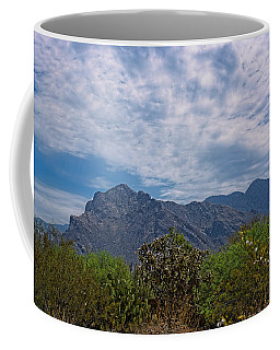 Coffee Mug featuring the photograph Pusch Ridge Morning H26 by Mark Myhaver