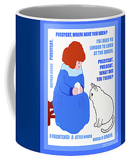 Coffee Mug featuring the painting  Pussycat, Pussycat By Mother Goose by Marian Cates