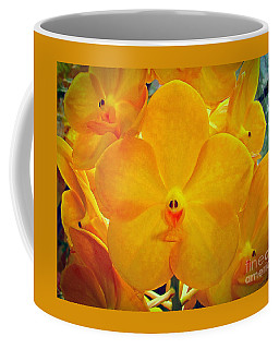 Coffee Mug featuring the photograph Put On A Happy Face Yellow Orchids by Sue Melvin