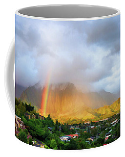 Puu Alii With Rainbow Coffee Mug