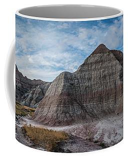 Pyramid In The Badlands Panorama Coffee Mug