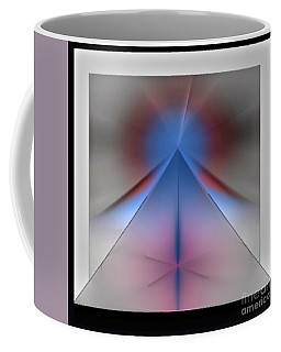 Coffee Mug featuring the digital art Pyramid by John Krakora