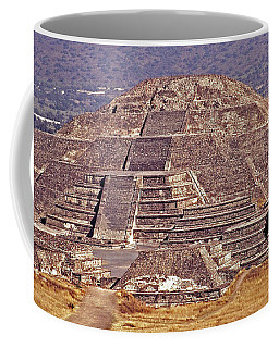 Pyramid Of The Sun - Teotihuacan Coffee Mug by Juergen Weiss