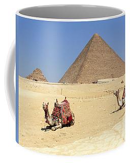 Coffee Mug featuring the photograph Pyramids Of Giza by Silvia Bruno