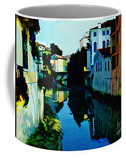 Coffee Mug featuring the photograph Quaint On The Canal by Roberta Byram