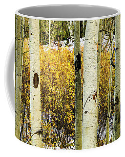 Quakies And Willows In Autumn Coffee Mug