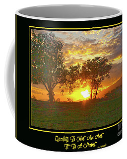 Quality Is Not An Act, It Is A Habit Coffee Mug