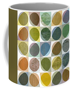 Coffee Mug featuring the digital art Quarter Circles Layer Project Three by Michelle Calkins