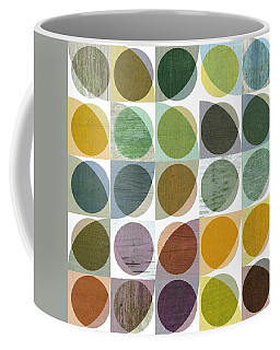 Coffee Mug featuring the digital art Quarter Circles Layer Project Two by Michelle Calkins
