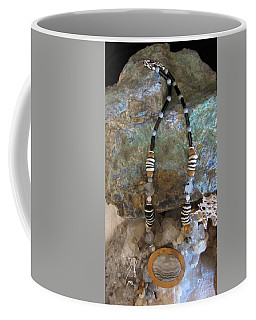 Quartz Agate Set In Gourd Wood #d134 Coffee Mug