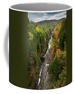Quechee Gorge Fall Vt Coffee Mug by Michael Hubley