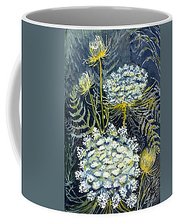 Coffee Mug featuring the painting Queen Anne's Lace by Katherine Miller
