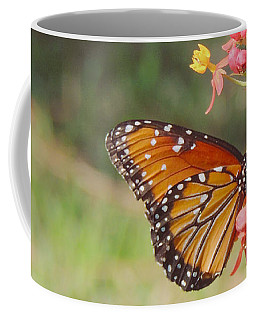 Queen Butterfly On Milkweed Coffee Mug
