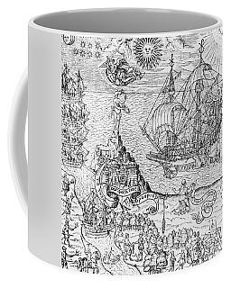 Queen Elizabeth I On Board A Ship Coffee Mug