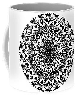 Queen Of Hearts King Of Diamonds Mandala Coffee Mug