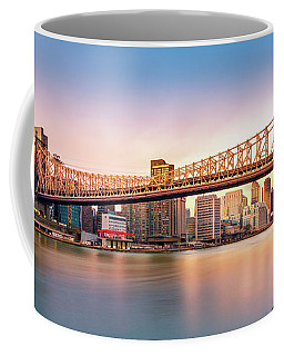 Queensboro Bridge At Sunset Coffee Mug by Mihai Andritoiu