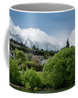 Queenstown New Zealand. Remarkable Ranges And Waters Of Lake Wakatipu Coffee Mug by Yurix Sardinelly