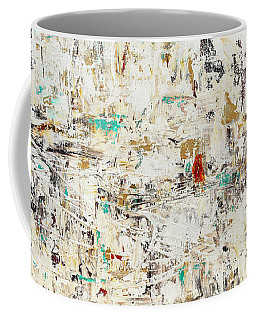 Coffee Mug featuring the painting Quest by Carmen Guedez