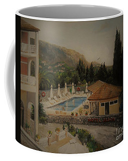 Coffee Mug featuring the painting Quiet And Sunny by Sorin Apostolescu
