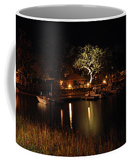 Coffee Mug featuring the photograph Quiet Night In Harbor by Kay Lovingood