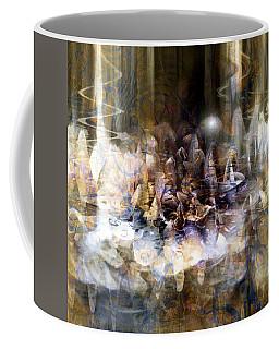 Coffee Mug featuring the digital art  Quiet Thunder by Linda Sannuti
