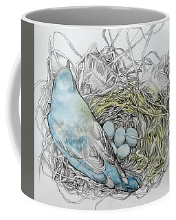 Coffee Mug featuring the drawing Quiet Time by Rose Legge