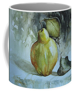 Coffee Mug featuring the painting Quince... by Elena Oleniuc