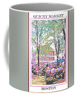 Quincy Market, Boston Massachusetts, Poster Image Coffee Mug