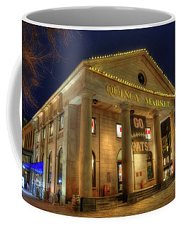 Quincy Market - Go Pats - Boston Coffee Mug by Joann Vitali
