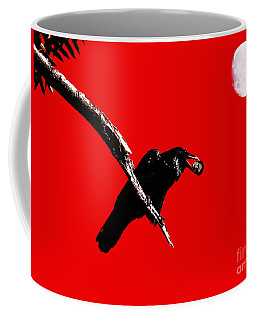 Quoth The Raven Nevermore . Red Coffee Mug