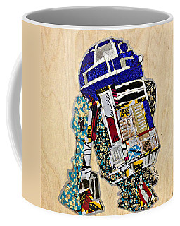 R2-d2 Star Wars Afrofuturist Collection Coffee Mug by Apanaki Temitayo M
