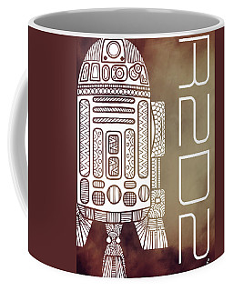 R2d2 - Star Wars Art - Brown Coffee Mug