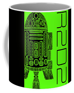 R2d2 - Star Wars Art - Green Coffee Mug