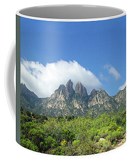 Coffee Mug featuring the photograph  Organ Mountains Rabbit Ears by Jack Pumphrey