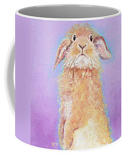 Rabbit Painting - Babu Coffee Mug by Jan Matson