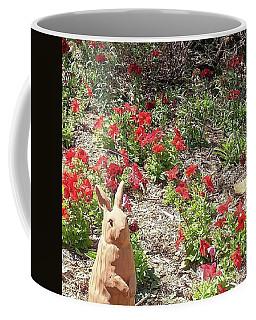 Rabbit Watching The Garden Coffee Mug
