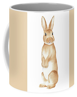 Rabbit Watercolor Coffee Mug