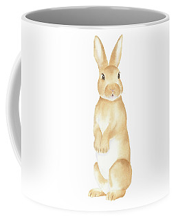 Rabbit Watercolor Coffee Mug by Taylan Apukovska