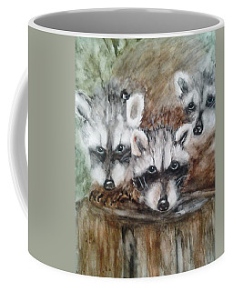 Raccoon Babies By Christine Lites Coffee Mug