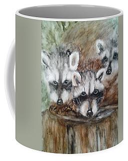 Raccoon Babies By Christine Lites Coffee Mug