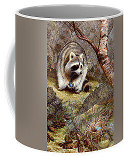 Raccoon Found Treasure  Coffee Mug