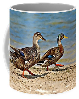 Coffee Mug featuring the photograph Race You To The Water by Carolyn Marshall