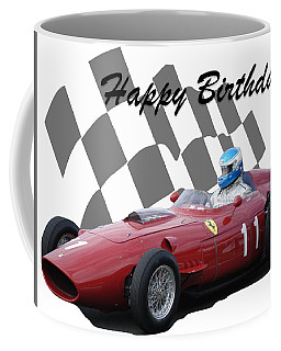 Coffee Mug featuring the photograph Racing Car Birthday Card 2 by John Colley