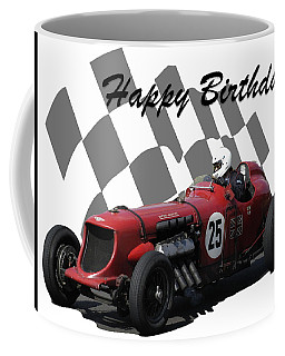 Coffee Mug featuring the photograph Racing Car Birthday Card 3 by John Colley