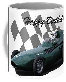 Coffee Mug featuring the photograph Racing Car Birthday Card 5 by John Colley