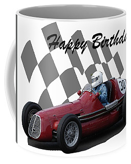 Coffee Mug featuring the photograph Racing Car Birthday Card 6 by John Colley