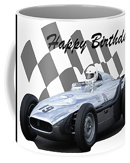 Coffee Mug featuring the photograph Racing Car Birthday Card 7 by John Colley